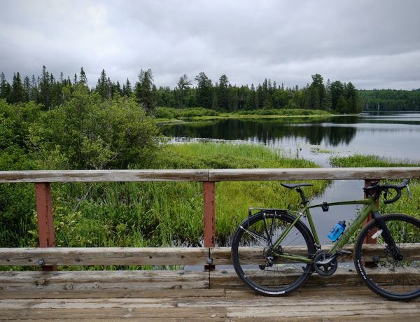 algonquin park with bicycle